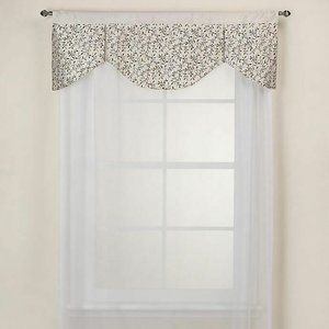 """Festival Valance in Oyster 48"""" Width X 17"""" Length"""